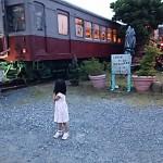 「出発しないね」でも、時々ガタゴト揺れる(笑)電車レストラン♡