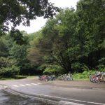 森林公園でサイクリング