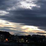 秋分の日、夜の太陽礼拝☀️